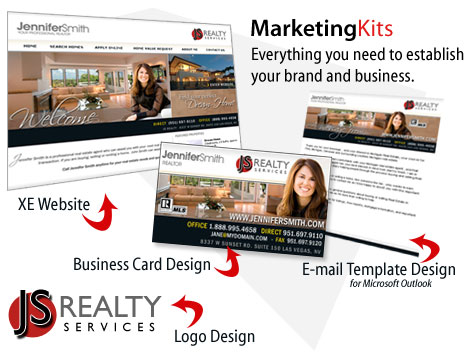 Real Estate Marketing Kit, Logo Design, Business Card Design ...